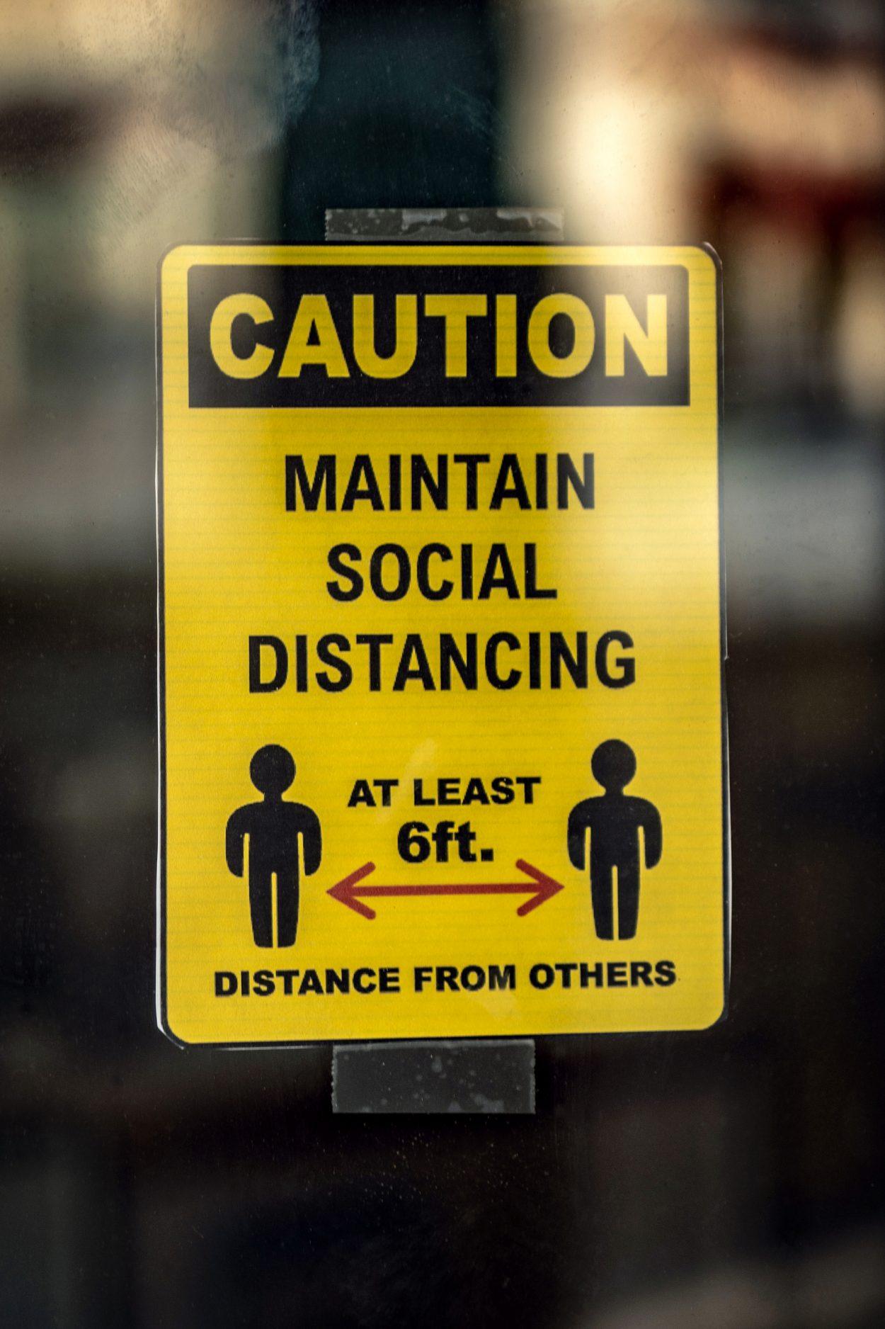 Covid Social Distancing sign